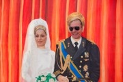 Boy and girl photographed like princess Maxima and prince Willem Alexander on Queensday