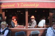 Couple with orange hat's during queensday