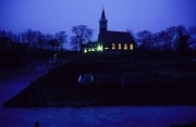 church of Grootschermer at evening