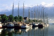 Old sailing boats in the harbour
