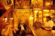 Men drinking beer at a pub