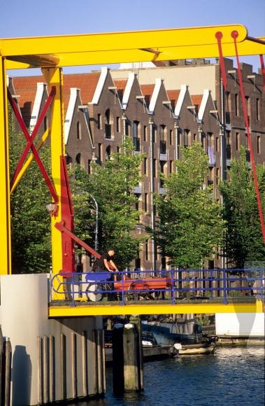 The 'Nijlpaardenbrug' at the Entrepotdok in Amsterdam