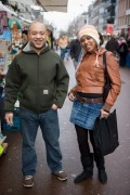 Couple posing at the  Albert Cuyp market