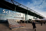 Main entrance of the Dutch national airport Schiphol