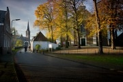 Cycling through the streets of the village of Ouderkerk
