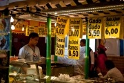 Food stand at the The Pasar Malam Besar